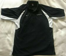 Nike Team Fit-Dry Jersey-Style Short-Sleeve Button-Neck Black Logo Polo Size Xl