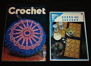 2x Books, The Complete Book of Crochet 1973 HC DJ & Popular Crochet Coats Sewing