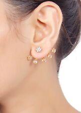 745 Indian Gorgeous Zircons Made Ear Cuff Earring Set American Diamond Jewelry