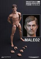 DAM ACTION 2.0 NARROW SHOULDERS BODY w/ Daryl Dixon Head 1/6 Figure