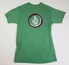 Volcom Mens T Shirt Size Small Green Surf Skate Graffic
