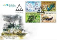 TURKEY / 2020 - (FDC) Fractal Nature Reflections (Snail, Plant, Peacock), MNH
