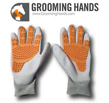 Grooming Hands™ - Pet Groooming Gloves for Horse, Dog, Cat. Anti-Static Gloves