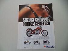 advertising Pubblicità 1996 MOTO SUZUKI VS 600 GLF/GL