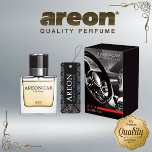 Areon Luxury Car Perfume Long Lasting Air Freshener TOP QUALITY - RED 50ml NEW