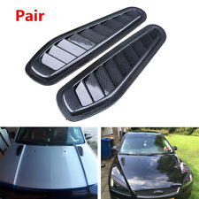 Pair Carbon Fiber Surface Car Air Flow Intake Scoop Turbo Bonnet Vent Cover Hood