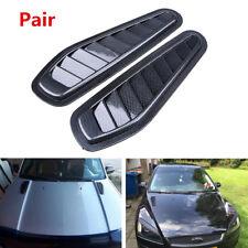 Pair Carbon Fiber Surface Car Air Flow Intake Scoop Turbo Bonnet Vent Cover Hood