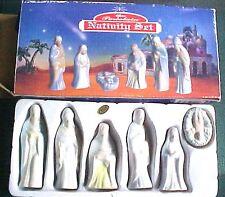 Vintage Miniature Porcelain Nativity Christmas Figurines Jesus Mary Joseph Kings
