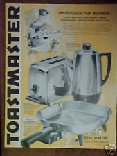 1959 Toastmaster Toaster,Coffee Maker,Fry Pan Print Ad