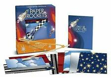 PAPER ROCKETS ~ BOOK & PAPER for 5 ORIGAMI MISSILES PLUS LAUNCHER!