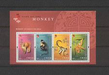 Hong Kong 2004 YO Monkey/Greetings 4v m/s (n17640)
