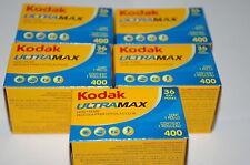 5 roll Kodak kodacolor UltraMax 400 Color Print 35mm Film GC 135-36 36 exp.04/20