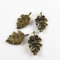 02377 Antiqued Bronze Vintage Alloy Look Chic Branch Leaf Charms Pendant 19PCS