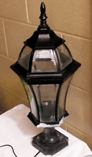 Front Lawn Lamp Black with Clear (non opaque) Glass for Hard Wired Mains