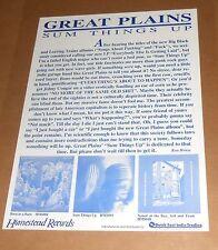 Great Plains Sum Things Up Poster Original Promo 21x16 Folk Punk RARE