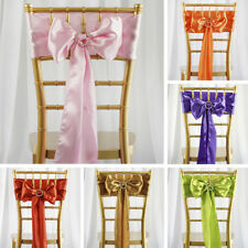 50 Satin CHAIR SASHES Ties Bows Wedding Party Catering Reception Decorations