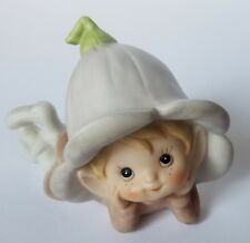 "Vintage Homco Pixie Elf Fairy Porcelain Woodland Figurine 4.5"" x 3"" Numbered"