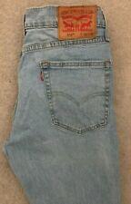 Levis 514 Slim Straight Denim Jeans Mens W31 L30 Blue Red Tab