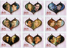 BUFFY TVS - THE STORY SO FAR - COUPLES - 9 Card Insert Set  - BV $36