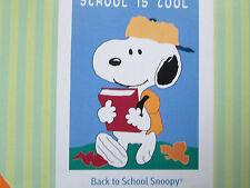 "New listing Snoopy ""School Is Cool"" Mini Garden Flag 13 x 18"