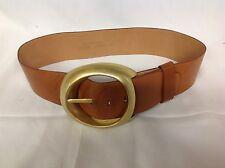 Patricia Von Musulin Vintage Modernist Sterling Silver Belt Buckle-Leather Belt