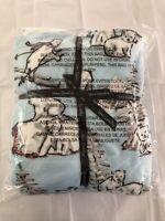 Vera Bradley NWT Cozy Life Throw Fleece Blanket  Beary Merry Polar Bears