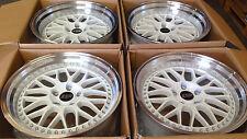 """17"""" ESR SR01 White Wheels For Matrix Camry Prelude 5x114.3 17X8.5 +30 Rims Set 4"""