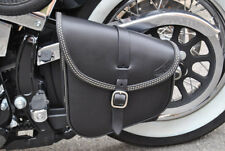 LEATHER SWING ARM BAG FOR HARLEY DAVIDSON SOFTAIL AND RIGID FRAMES MADE IN ITALY