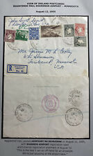 1955 Shannon Airport Ireland Airmail Postcards Cover To Faribault MN USA