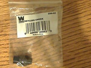 Wen Keyless Rotary Tool 3 Jaw Chuck Accessory Attachment 1/32 - 1/8 inch Adapter