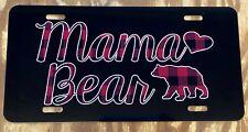 Personalized Mama Bear License Plate CUSTOM Car Tag Black White Tag New