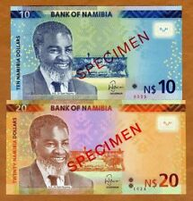 Specimen Set, Namibia, 10;20 Dollars, 2015, P-New, UNC