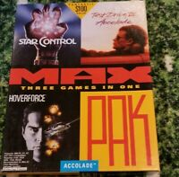 Vintage Rare Mint - Accolade MAX PAK PC Big Box Collectors Video Game.  Complete