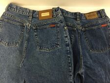 Lawman Lot Of 2 Womens Jeans Stright Leg Medium Wash Blue 5 Pocket Zipper Fly