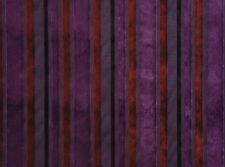 """Velvet Marriott Plum Striped upholstery Drapery Sofa Pillow Fabric Yard 60"""" wide"""
