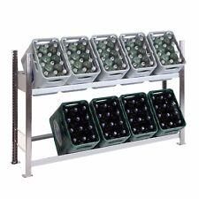 Getränkekistenregal Halbhoch mit 2 Ebenen 100x156x34 Cm Made In Germany Top
