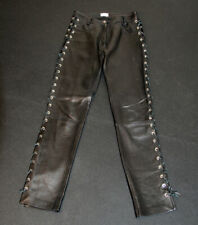Magda Butrym Black Leather Pants Size Small