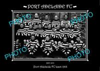 SANFL 8x6 HISTORIC PHOTO OF THE PORT ADELAIDE FC TEAM 1918