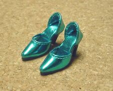 Doll Shoes, 42mm METALLIC TURQUOISE Easy to Wear for Sybarite, MA Alex