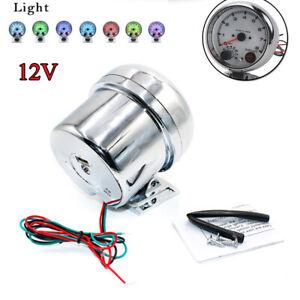 12V Car Tachometer Gauge Tachometer RPM Retrofit Seven Colors ABS Universal Kit