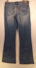 Levi's 528 Curvy Cut Blue Stretch Jeans sz 11M  L32 Boot LIGHT WASH #J-14