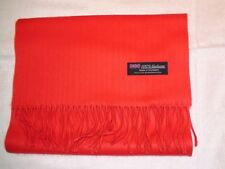 New 100% Cashmere Scarf Soft 72X12 Solid Christmas RED Scotland Wool Men Wrap