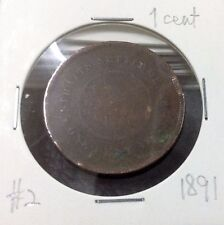 STRAITS SETTLEMENTS  QUEEN VICTORIA  1 cent  1891  #2
