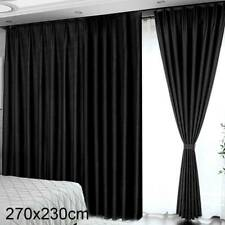 2 Pcs Blackout Eyelet Curtains Blockout Curtain 3 Layer Insulated 270x230cm