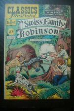CLASSICS ILLUSTRATED COMICS #42 SWISS FAMILY ROBINSON HRN 42 1ST ED VG+/FN-