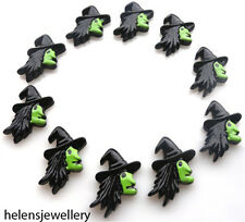 10 Halloween Streghe Kitch i CABOCHON KAWAII Decoden-Veloce Spedizione gratuita