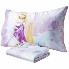 NEW DISNEY PRINCESS TANGLED RAPUNZEL MICRO MINK FITTED SHEET PILLOWCASE 2 PC SET