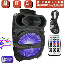 "8"" Party Bluetooth Speaker 1000 Watts System Led Portable Stereo Tailgate Loud"