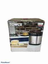 Tower Digital Bread Maker, 0.9 Litre, 650 W, Stainless Steel, T1100, USED
