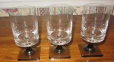"THREE ROSENTHAL GERMANY SHERRY OR CORDIAL GLASSES 3.25"" TALL; LINEAR SMOKE"